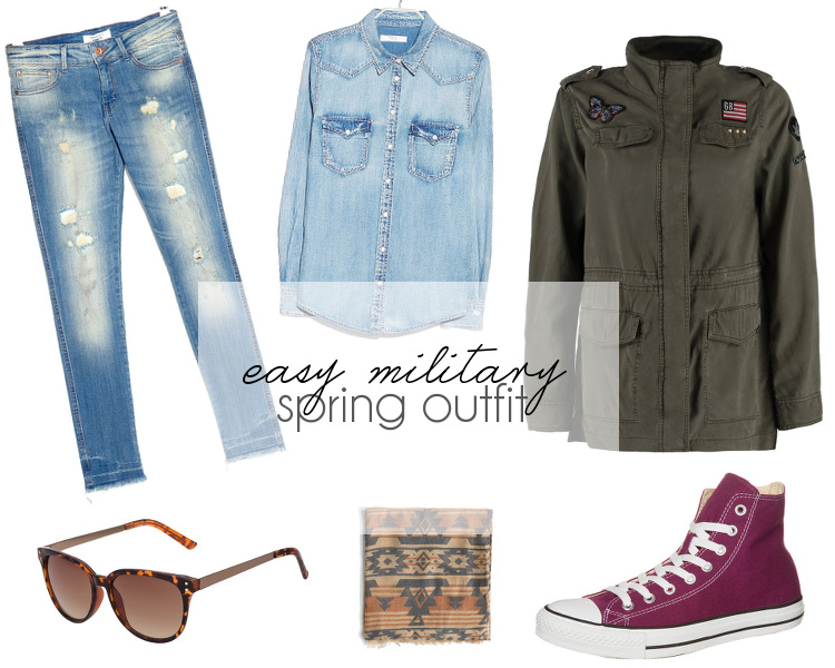 easy military spring outfit