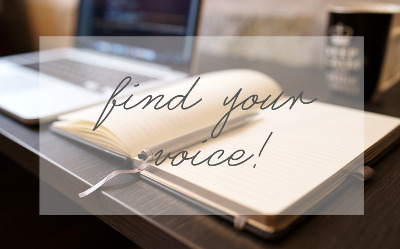 find your blogging voice